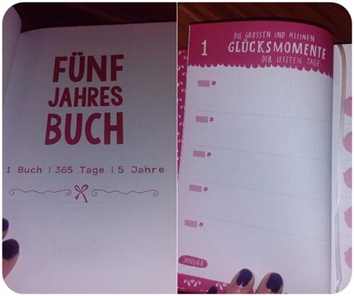 """alt=""""Fünf Jahres Buch Innenansicht"""""""