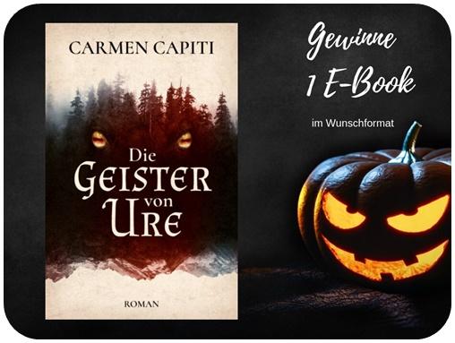 "alt=""Gewinn Die Geister von Ure, Carmen Capiti, E-book, Halloween Special"""