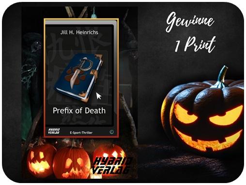 "alt=""Gewinn Prefix of Death, Hybrid Verlag, Print, Halloween Special"""
