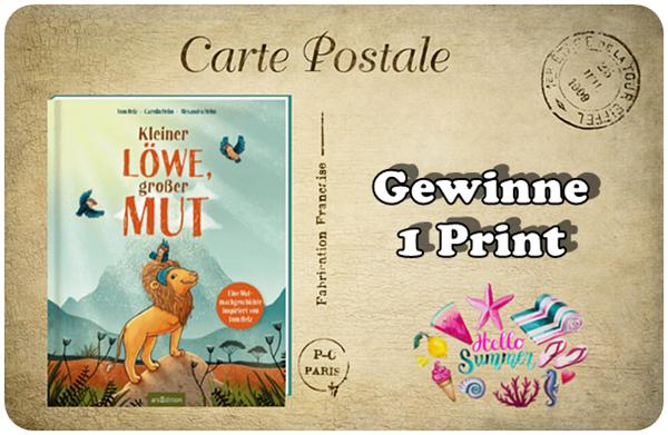 """alt=""""Kleiner Löwe großer Mut - Print"""""""
