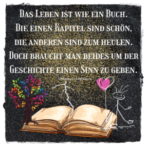 """alt=""""Das Leben ist wie ein Buch"""""""
